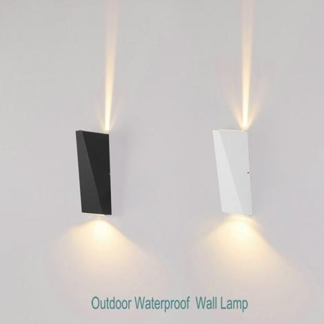 6W Modern Aluminum Wall Lights UP and Down Wall LIGHT Double Head LED Wall Lamp Home Bedside Corridor Aside Waterproof Wall Lights