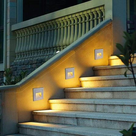 Led Wall Lamp 3W LED Stair Light Step Lights Recessed Buried Lamp Indoor Outdoor Waterproof Staircase Step Lights AC85-265V