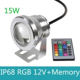 16 Colors RGB LED Underwater Fountain Light for Ponds Swimming Pool Aquarium Tank Waterproof with Memory